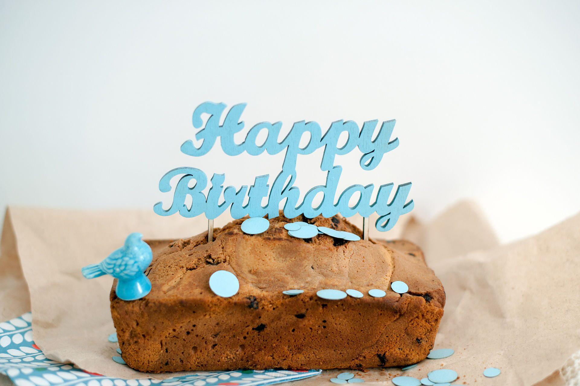 """Топпер на торт """"С Днем рождения"""""""